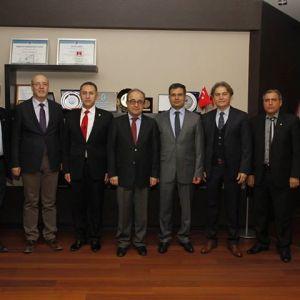 Buldan Cloth / Branding of Buldan Cloth Infrastructure Studies project was presented to Professor Hüseyin Bağcı, Rector of Pamukkale University.