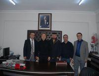 Buldan Göğüs Hastalıkları Hastanesinde Başhekimlik görevine atanan Doktor Alpaslan Alsoy'u ziyaret