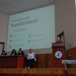 Buldan Chamber of Commerce We organized the panel we attended Bulk Vocational School Bulkkale University.