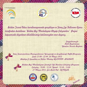 May 26, 2015 Time: 21:00 will be held in Belküm fashion show are waiting for all our people ...