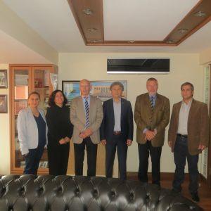 Almelo komitesi, Ticaret odamızı ziyaret ediyor, Buldan ekonomisi ile ilgili bilgi alıyor..