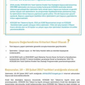 KOSGEB 2017 Zero Interest Loan Support