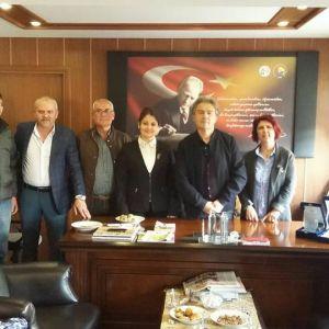 İyi Parti organization visited Buldan Chamber of Commerce.