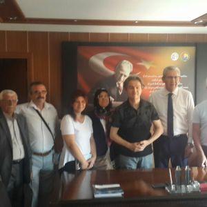 Republican People's Party Deputy Kazım Arslan visited our room.